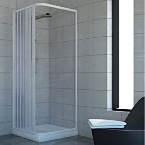 Cabine paroi de douche en Plastique PVC mod. Acquario 70x70 cm avec ouverture l
