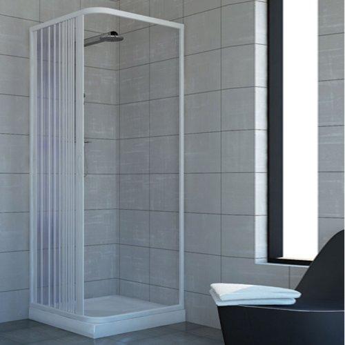 Cabine paroi de douche en Plastique PVC mod. Acquario 90x100 cm avec...