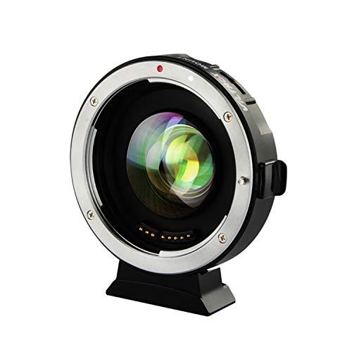 VILTROX® EF-M2 Autofokus Objektivadapter 0,71x Fokalreduktor Booster-Adapter für Canon EF-Mount-Objektiv auf M43-Kamera -