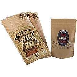 Axtschlag BBQ Geschenk Set, BBQ Lachs Set, 2 teiliges Set für den Grill, das ideale Männer Geschenk