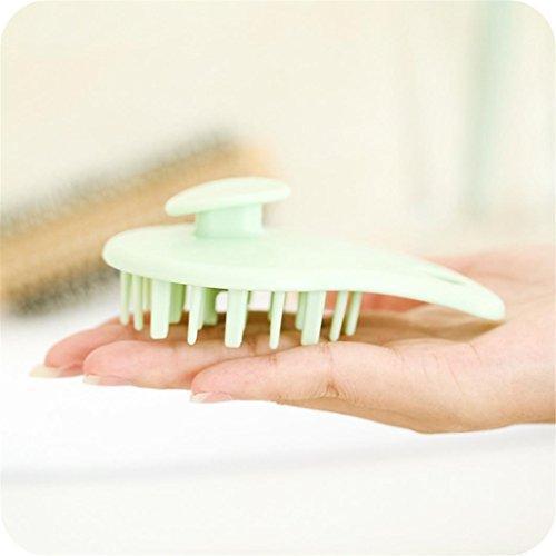 Kopfmassage-Bürste, zur Pflege für Haar und Kopfhaut, zur Benutzung mit Shampoo + Conditioner, -