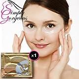 El colágeno Crystal Eye Mask Patch cojín anti arrugas de humedad - 1Par