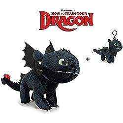 Dragons, Como Entrenar a tu Dragón - Desdentao 30 Cm - 760016661-1 + Llavero Desdentado 11cm