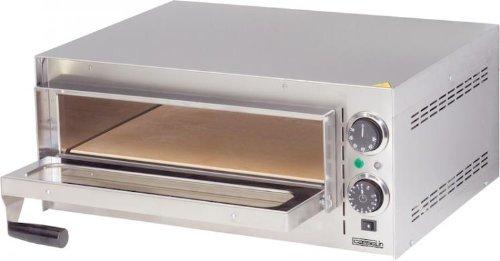 Casselin Pizzaofen aus Edelstahl mit einer oder mit zwei Backkammern - mit Timer, Variante:eine Kammer