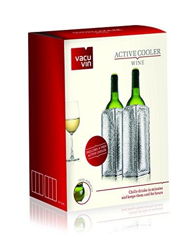 Vacu Vin Set 2 Flexibele Erfrischer Silber