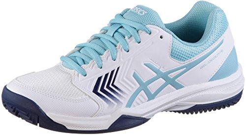 Asics Gel-Dedicate 5 Clay, Scarpe da Tennis Donna Multicolore (White/Porcelain Blue/Indigo Blue)