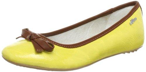 s.Oliver Casual 5-5-22101-30, Damen Ballerinas, Gelb (Yellow 600), EU 39