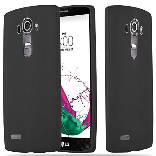 Cadorabo Hülle für LG G4 - Hülle in Candy SCHWARZ - Handyhülle aus TPU Silikon im Candy Design - Silikonhülle Schutzhülle Ultra Slim Soft Back Cover Case Bumper