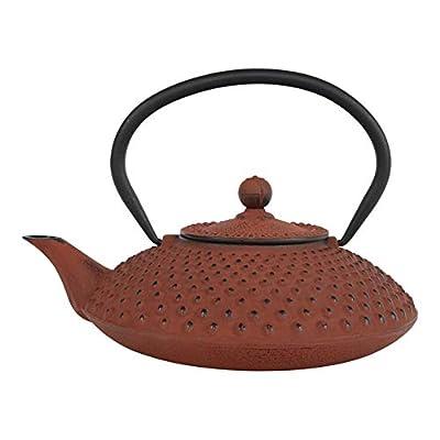 Tealøv THÉIÈRE en Fonte 1,25 l - Théière en Fonte avec infuseur en Acier Inoxydable - Entièrement émaillée de l'intérieur - Prépare Une Tasse de thé Parfaite - Design Authentique à Picots - Kambin de