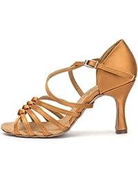 3fd8f362 GUOSHIJITUAN Mujer S Zapatos De Baile Latino,Satén Fondo Blando Tacones  Zapatos De Baile Tango