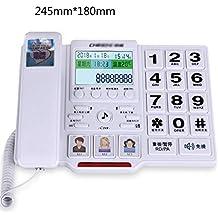 SJIADHJ Linea Telefonica Anziana, Telefono a Pulsante Grande, Telefono Cablato per La Casa, per Camera da Letto Soggiorno