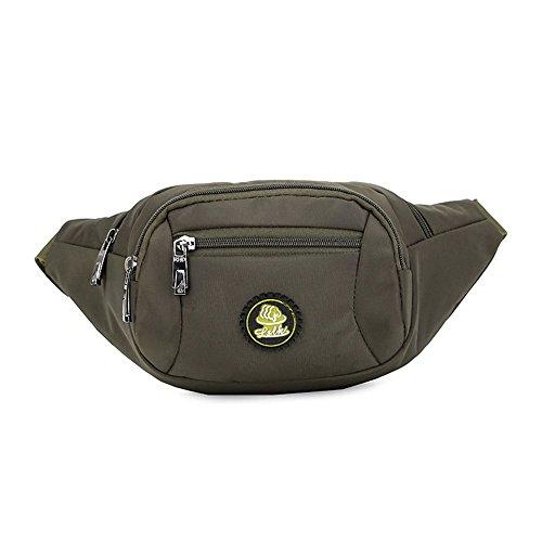 Wewod riñonera deportiva de nylon,bolso de la cintura de retro,riñoneras trail running 35 x 14 x 6 cm (L*H*W) (Verde)