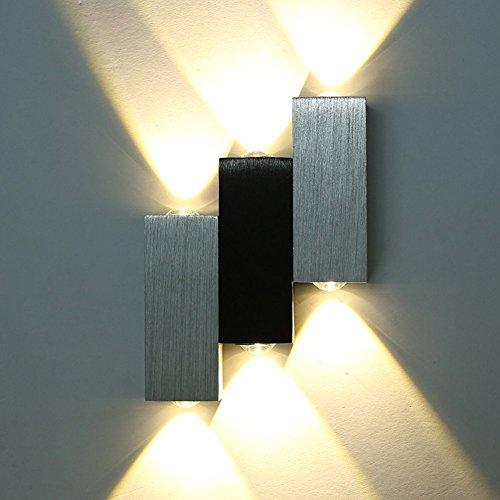 Etime Lampada da parete LED in alluminio spazzolato Lampada a ...