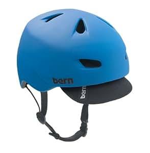 Bern Brentwood, Casco da Bici/Skateboard per uomo, 57-59 cm, colore: Ciano opaco