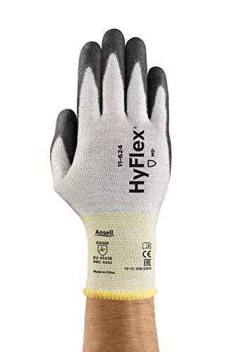 Ansell Hyflex 11-624/7 Gant anti-coupures, protection mécanique, taille 7 (sachet de 12 paires), Noir