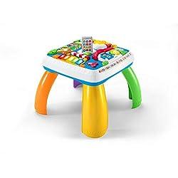 Fisher-Price Mesa multiaprendizaje bilingüe, mesa infantil bebé +6 meses (Mattel DRH34)