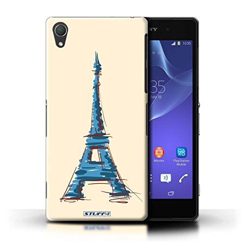 Kobalt® Imprimé Etui / Coque pour Sony Xperia Z2 / Moulin/Hollande conception / Série Monuments Tour Eiffel / Paris