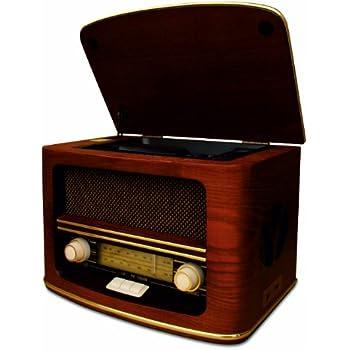 Retro Holz Design Nostalgie Anlage Radio mit CD MP3 USB