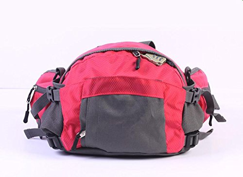 &ZHOU Männer und Frauen Sport Rucksack-Handtasche Großraum-Schultertasche Rucksack Messenger Mode Multifunktionshandtasche Messenger bag rose red