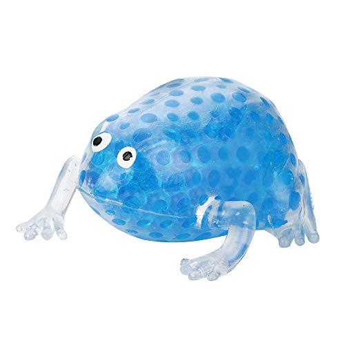 Wokee Squeeze Perle Stress Spielzeug,8cm Squeeze Frogs Frösche Quetschen Anti Stress Relief Decompression Bubble Ball (Blau)