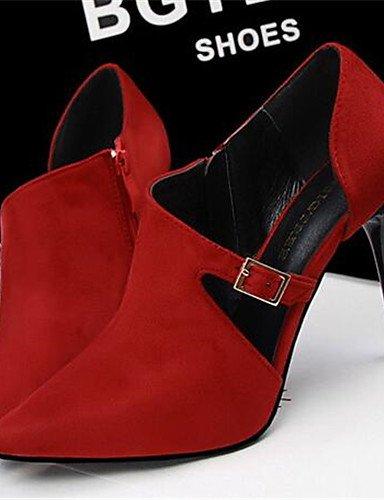 WSS 2016 Chaussures Femme-Habillé / Soirée & Evénement-Noir / Rouge / Gris / Bordeaux / Kaki / Amande-Talon Aiguille-Talons-Talons-Synthétique red-us5.5 / eu36 / uk3.5 / cn35