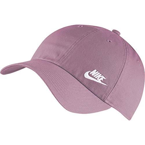 Nike w nsw h86 futura classic berretto, donna, plum dust/white, taglia unica