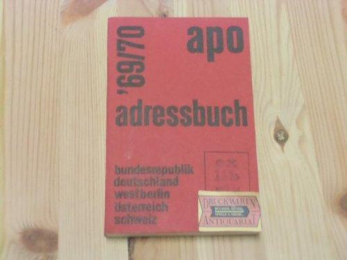 Apo Adressbuch `69/70.
