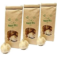 Mouse Hill- 3 Packs de AJO NEGRO fermentado Certificación Ecológica – 3 cabezas