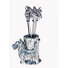 Fox Terrier SPADES Aulica 8573/06 plateado-chapado en espada (6 piezas)