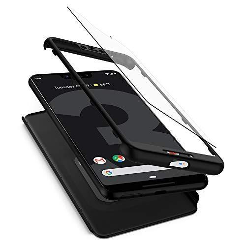 Spigen Thin Fit 360, Google Pixel 3 XL Hülle, F20CS25030 360° Rundumschutz Vollschutz mit Gratis Panzerglas Handyhülle Schutzhülle Case (Schwarz)