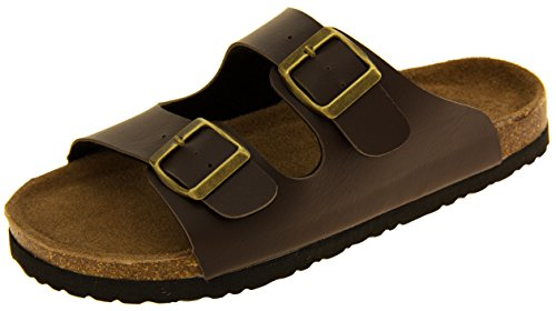 coolers-womens-brown-2-strap-faux-leather-buckle-strap-mule-sandals-uk-7