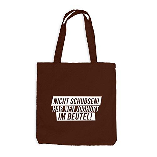 Jutebeutel - Nicht Schubsen! Hab Nen Joghurt Im Beutel! - Fun Style Chocolate