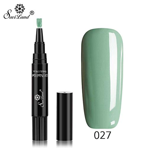 Nagellack, Neueste 3 in 1 Gel Nagellackstift Flash Bright Gloss One Step Nagelgel UV Nagellack 16 Farbe Watopi