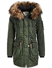 ORIG. KHUJO DAMEN Winter Jacke kurz Mantel mit Kunstfell