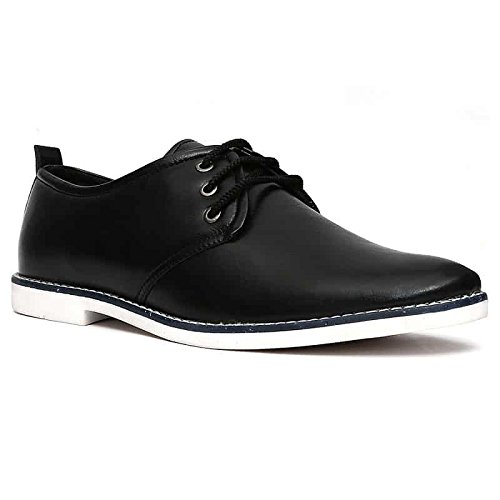 Nohide HQ Microfibre Vegan Leather Casual Water Resistant Lace Up Derby Shoes For Men / Boys PETA Approved