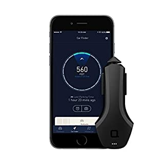 Nonda KFZ-Laden - USB Autoladegerät Smart Car mit 2 USB-Ports, Kfz Ladegerät, Ultra-Schnelles Laden, inkl. App, Car Charger, Bluetooth-Verbindung, Kfz-Finder, GPS-Tracking, Fahrtenbuch - Schwarz