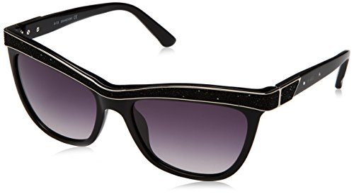 Swarovski Damen Sonnenbrille, Schwarz (Shiny Black), 55