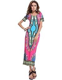 Neighbor Girl Tailandia e Indonesia vestido de la impresión del tótem retro yardas grandes