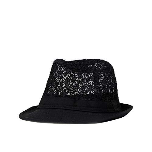 Kentop Panamahut Fedora Hut Damen Herren Sonnenhut Trilby Hut (Schwarz) Fashion Trilby Hut