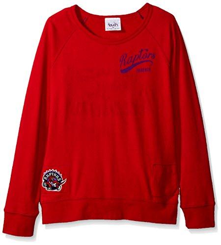 NBA Damen Sweatshirt Atlanta Hawks Dugout Reversible Pullover, Damen, Touch Dugout Reversible Sweatshirt, rot, Small Nba-damen Sweatshirts