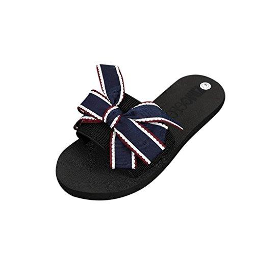Plattform-frauen Schuhe Puma (Wawer damen Sommer Sandalen Slipper Flip-Flops Strand Schuhe Indoor Outdoor(36-40) Schuhe Absatzhöhe 3 cm (Blau, 37))