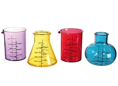 4er Set Shooter Labor Gläser Chemie Chemistry Reagenzglas Schnaps Pinnchen