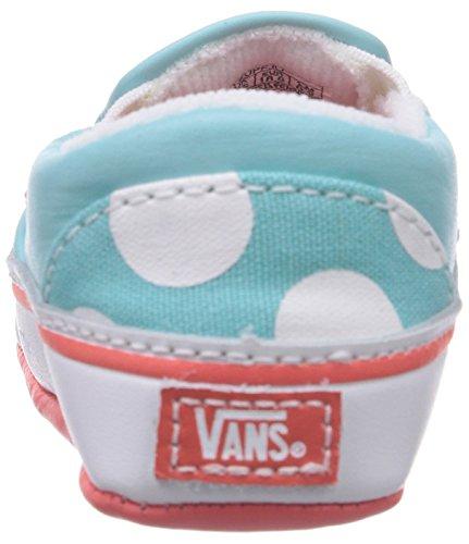 Vans I Classic Slip-on, Baskets mode mixte bébé Turquoise (Polka Dots/Aqua Sky)