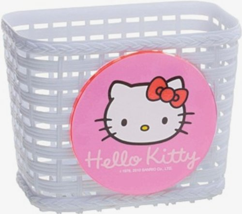 Image of Hello Kitty bike basket with white handlebar clamp [Toy]