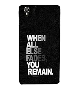 EPICCASE You Remain Mobile Back Case Cover For Lava Iris X800 / Lava Iris X800 (Designer Case)