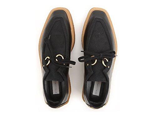 Chaussures à lacets compensée Stella McCartney noir - Code modèle: 430851 W0MW6 1000 Noir