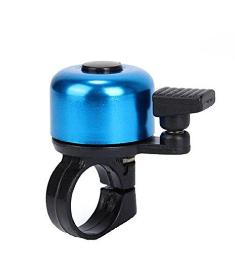 Tonsee Radfahren Fahrrad Lenker Metall Ring Schwarz Fahrrad Horn Glockenton Alarm Sicherheit (blau)