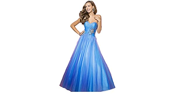 atopdress @P04 Ball prom sequined gown evening dress party wear Bridemaids (8, BLUE): Amazon.co.uk: Clothing