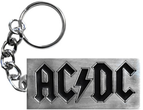 AC/DC Logo Metal keychain portachiavi, Officially Licensed Products Classic Rock Artwork High Quality Metal keychain portachiavi