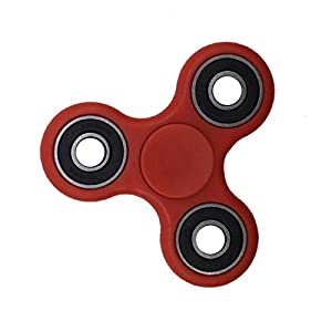 Nibesser Spinner Tri Focus Jouet Décomprimé pour Enfant ou Adulte Roulement Haute Vitesse Tourne (rouge)